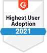 G2 Highest User Adoption 2021