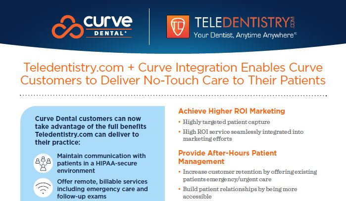 Teledentistry.com + Curve Integration Enables Curve Customers to Deliver No-Touch Care to Their Patients